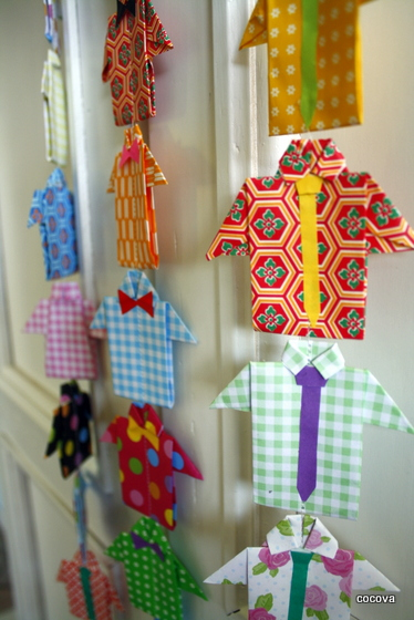 すべての折り紙 リボンの折り方 折り紙 : Origami Shirt and Tie
