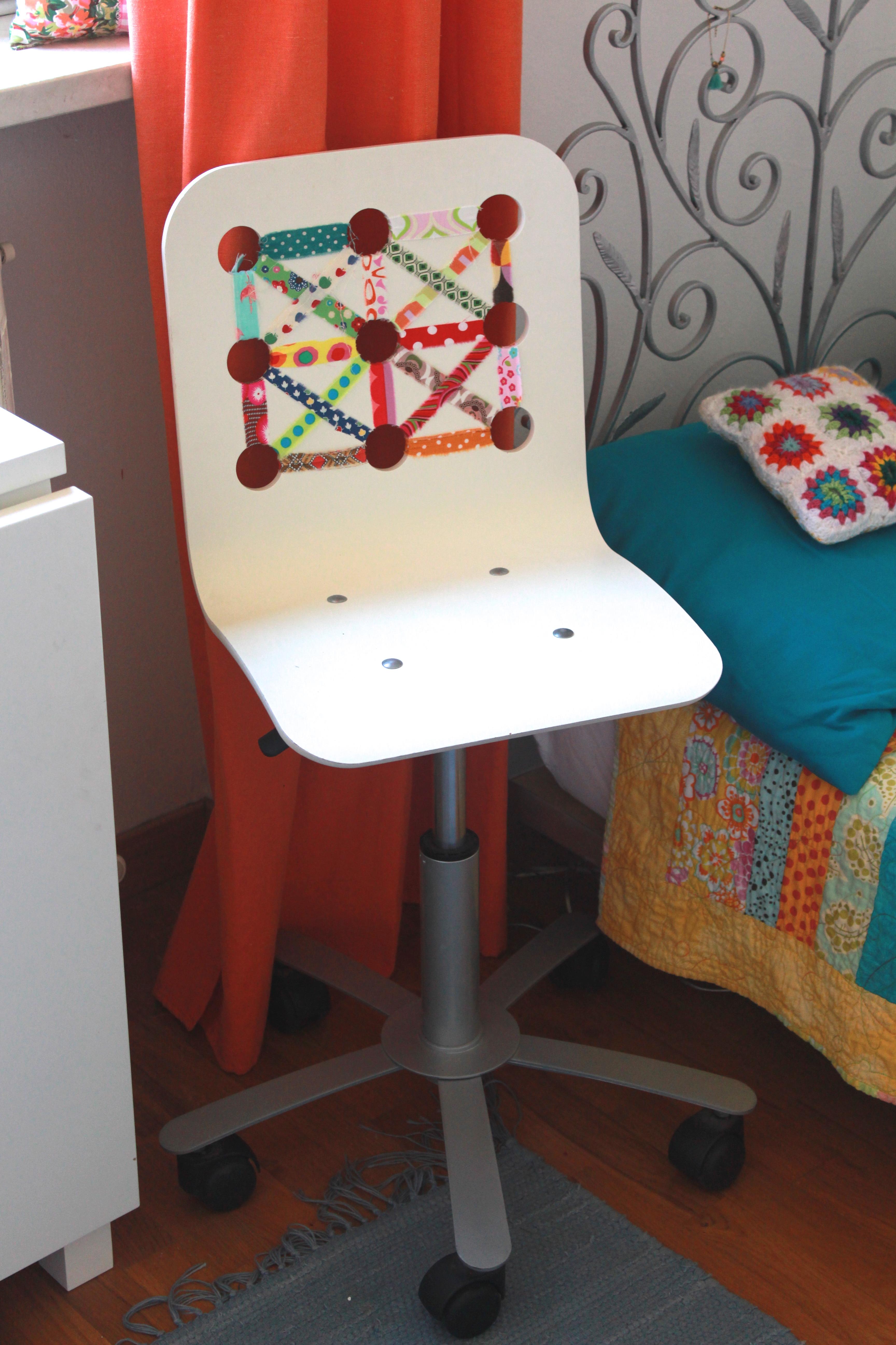 fabric scrap ikea chair jillian in italy