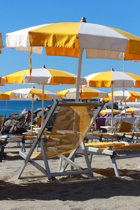Beach in Albisola, Liguria.